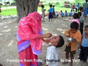 Freedom from Polio, chained to the veil